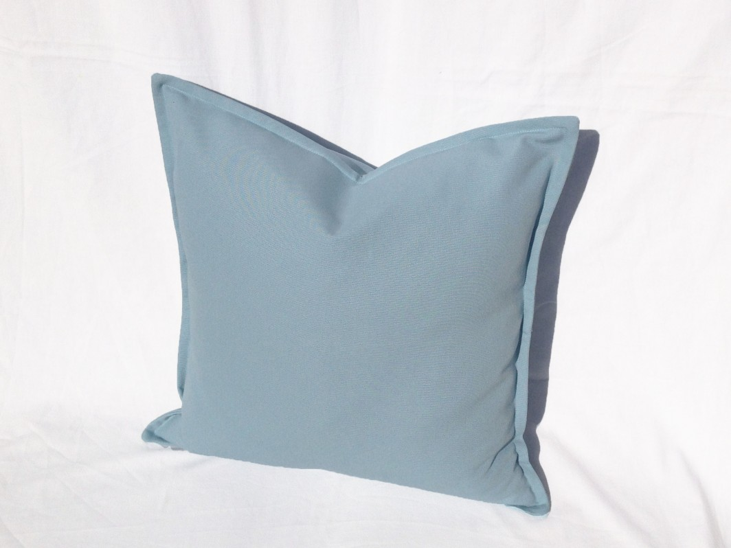 Baby Blue Decorative Pillow Case , Colony